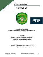 Laporan Banggar KUPA & PPAS-P 2018 Kabupaten Kutai Kartanegara