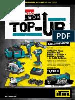 Makita ITM Toolbox Top-Up 2018 Catalogue