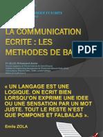 Communication Ecrite 2012