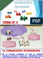 Tema Nº 3 Comunicación Interpersonal