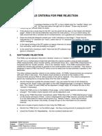 PME Rejection Criteria
