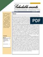 Boletín Mesa Salud Menta Vol 1 N° 9 - Facultad Nacional de Salud Pública UdeA