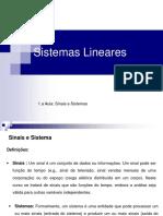 01.a Aula_Sist. Lineares_Sinais e Sistemas