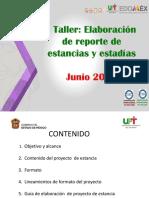 Taller Elaboracion de reporte estancias y estadias 2018