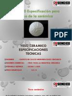 ASTM C60 Especificación Para El Yeso de La Cerámica