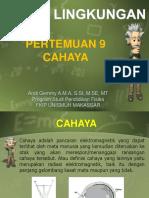 9. Fisika Lingkungan - CAHAYA