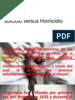 Suicidio Versus Homicidio