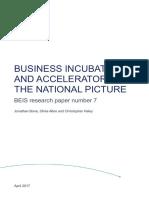 Business Incubators Accelerators Uk Report
