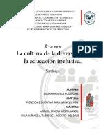 ACT. 7 Resumen de La Lectura La Cultura de La Diversidad y La Educación Inclusiva.