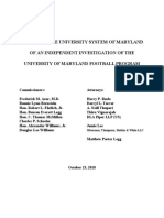 Independent Investigation UMD Footbal
