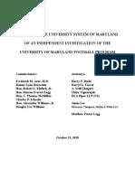 Independent Investigation UMD Footbal