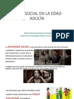 Fobia social en la edad Adulta
