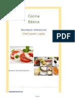Recetarío de Cocina Básica