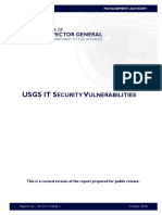 DOI IG Report on USGS IT Security Vulnerabilities