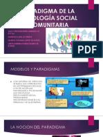 Paradigma de La Psicologia Social comunitaria