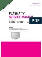 Service Manuals LG TV PLASMA 42PB4D 42PB4D Service Manual
