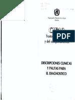 __CIE 10 Trastornos Mentales y Del Comportamiento. Descripciones Clinicas y Pautas Para El Diagnostico