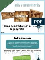 Introduccion a La Geografía