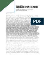 Dimension Etica Del Morir