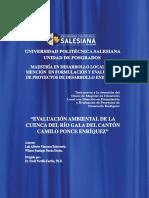 Evaluacion Ambiental de La Cuenca Del Rio Gala Del Canton Camilo Ponce Enriquez