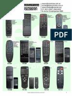 Ecr Catalogo Controles Remoto Tv - Lcd Septiembre 2018