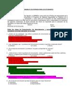 Cuestionario y Ficha de Comprension