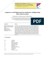 Diagnosis of Axial Displacement in Transformer Windings Using Finite Element Analysis