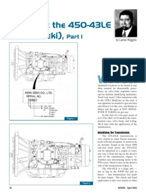 AW450 43LE Manual | Transmission (Mechanics) | Mechanical EngineeringScribd