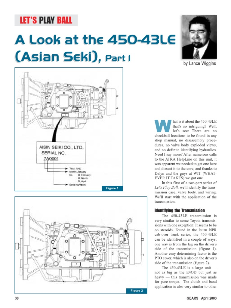 Aw450 43le Manual Transmission Mechanics Mechanical Engineering