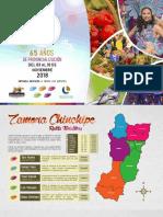 Programa de Festividades 65 Años de Provincialización Zamora Chinchipe 2018.
