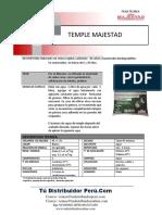 Temple Majestad Hoja Tecnica