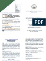 Diptico 2018 CEEP Valdivia - Diplomado en Teología