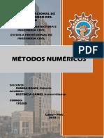 Informe de Metodos