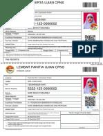 Kartu Ujian CPNS 2018