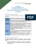 Temario Matematica Nm2 Ve 2018