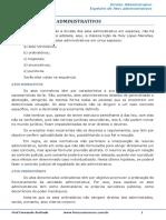 Ato Administrativo Espécies de Atos Administrativos - 003638