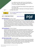 Chemistry Study Cards
