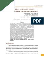 Ponencia El Profesorado de Educación Primaria%2c Diversos Factores Que Vuelven Compleja Su Tarea