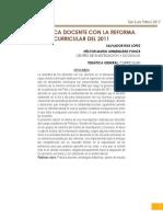 Ponencia La Práctica Docente Con La Reforma Curricular de 2011