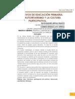 Ponencia Los Directivos de Educación Primaria. Entre El Autoritarismo y La Cultura Participativa