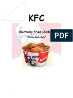 kfc marketing management Customer relationship of kfc although the benefits of customer relationship management may be numerous and marketing toward company improvement.