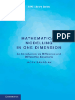 (AIMS Library of Mathematical Sciences) Banasiak J.-mathematical Modelling in One Dimension_ an Introduction via Difference and Differential Equations-Cambridge University Press (2013)