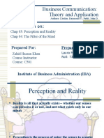 Business Communication - Perception Reality Mind Filter 2010