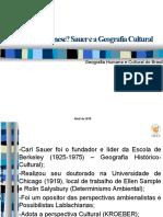 Sauer - Geografia Cultural