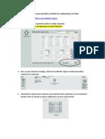 Indicaciones Para Acceder y Resolver Las Evaluaciones en Línea