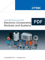 TDK-Electronic Components, Modules and Systems Catalog