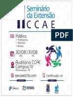 Cartaz - Banner II Seminário de Extensão Ccae Agosto
