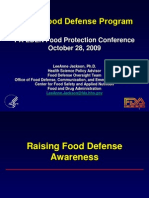 Awareness Towards Food Defeense