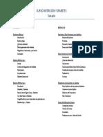 Temario Nutricion y Diabetes