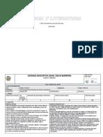 Plan Anual Lengua y Litertura 018-2019 Segundo Del Bgu